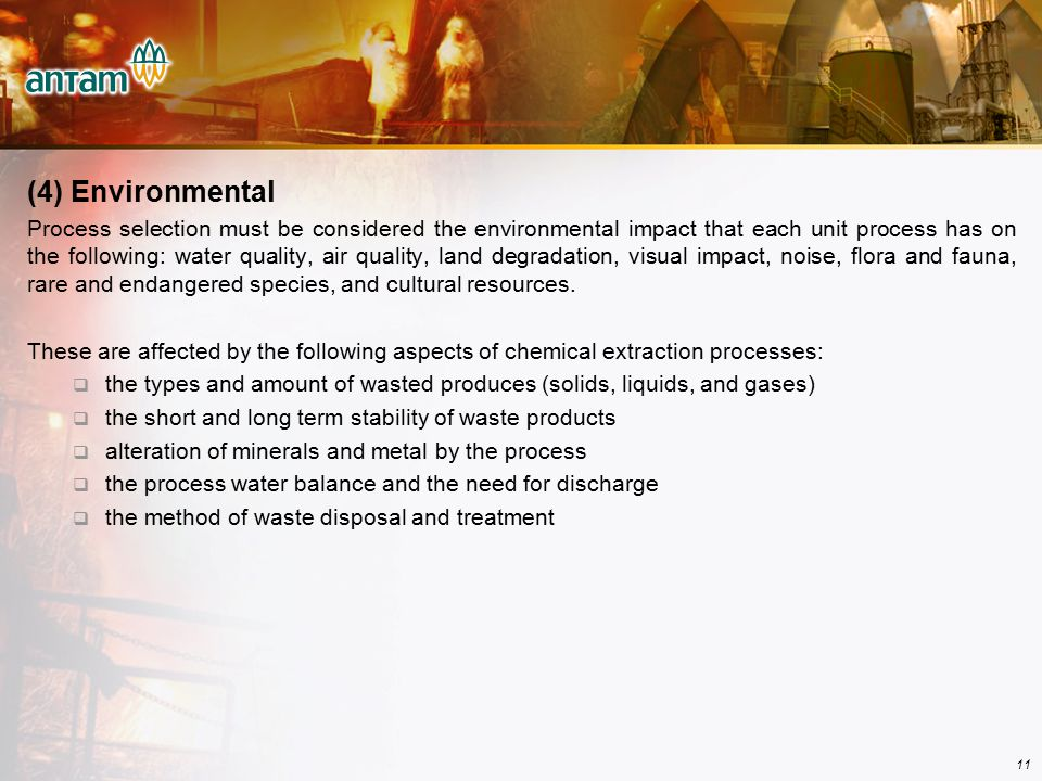 (4) Environmental