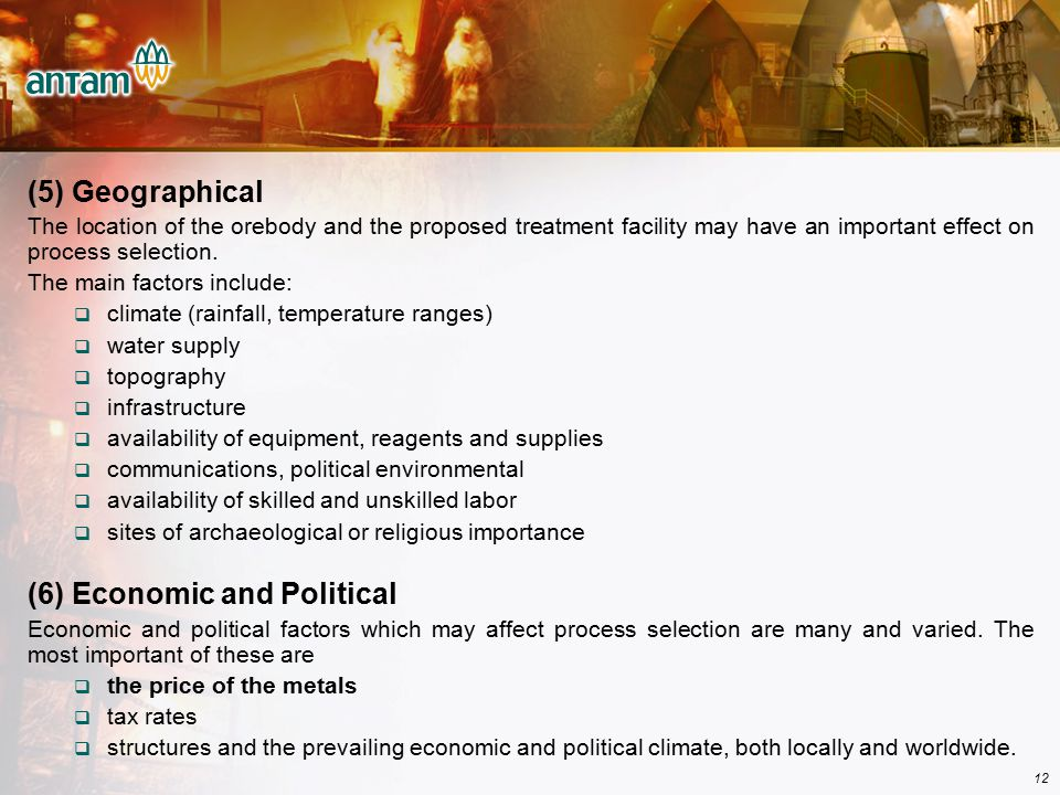 (6) Economic and Political