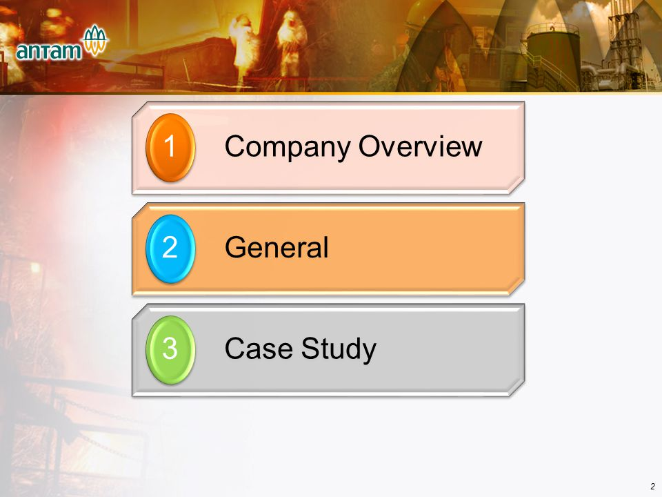 Company Overview 1 General 2 Case Study 3