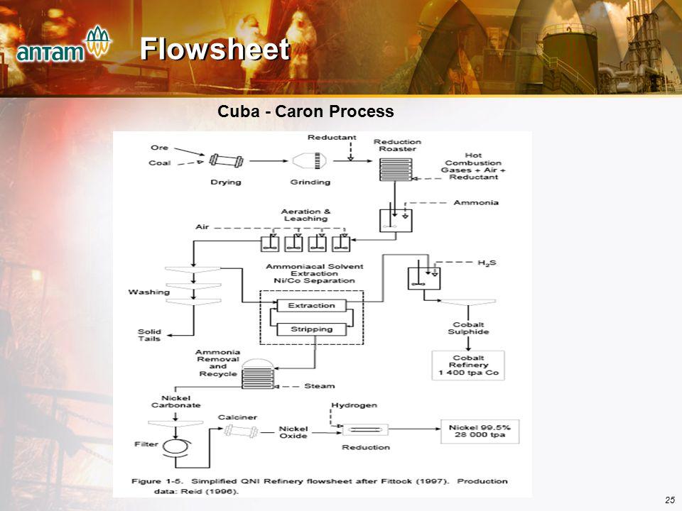 Flowsheet Cuba - Caron Process