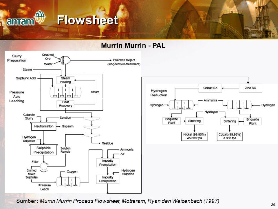 Flowsheet Murrin Murrin - PAL