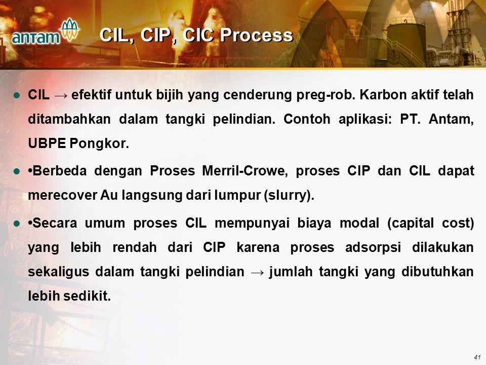 CIL, CIP, CIC Process