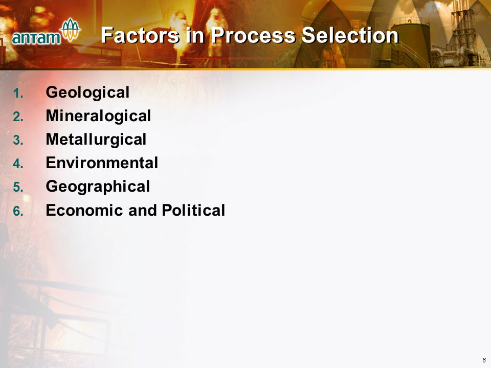 Factors in Process Selection