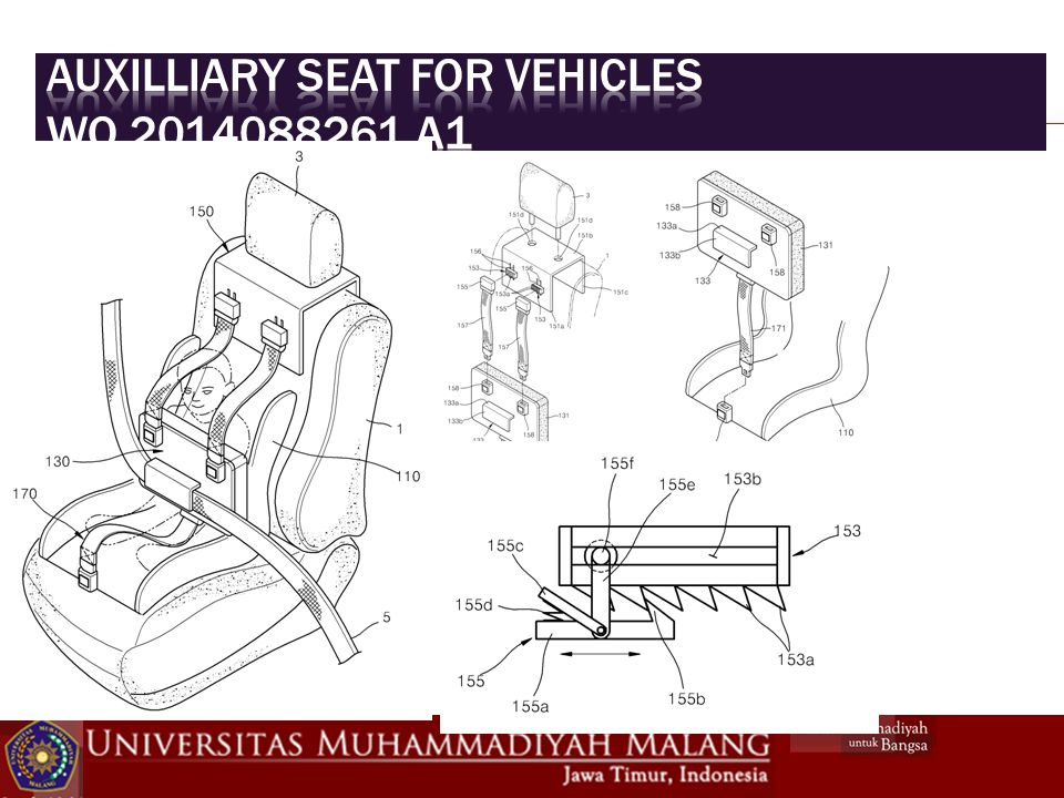 Auxilliary seat for vehicles WO 2014088261 A1
