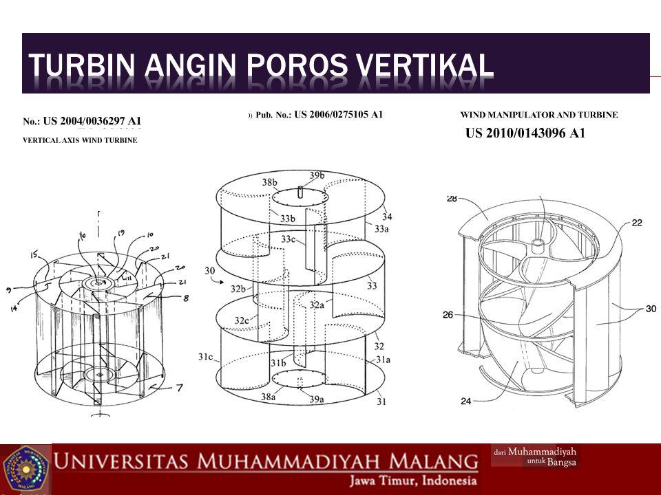 Turbin angin poros vertikal