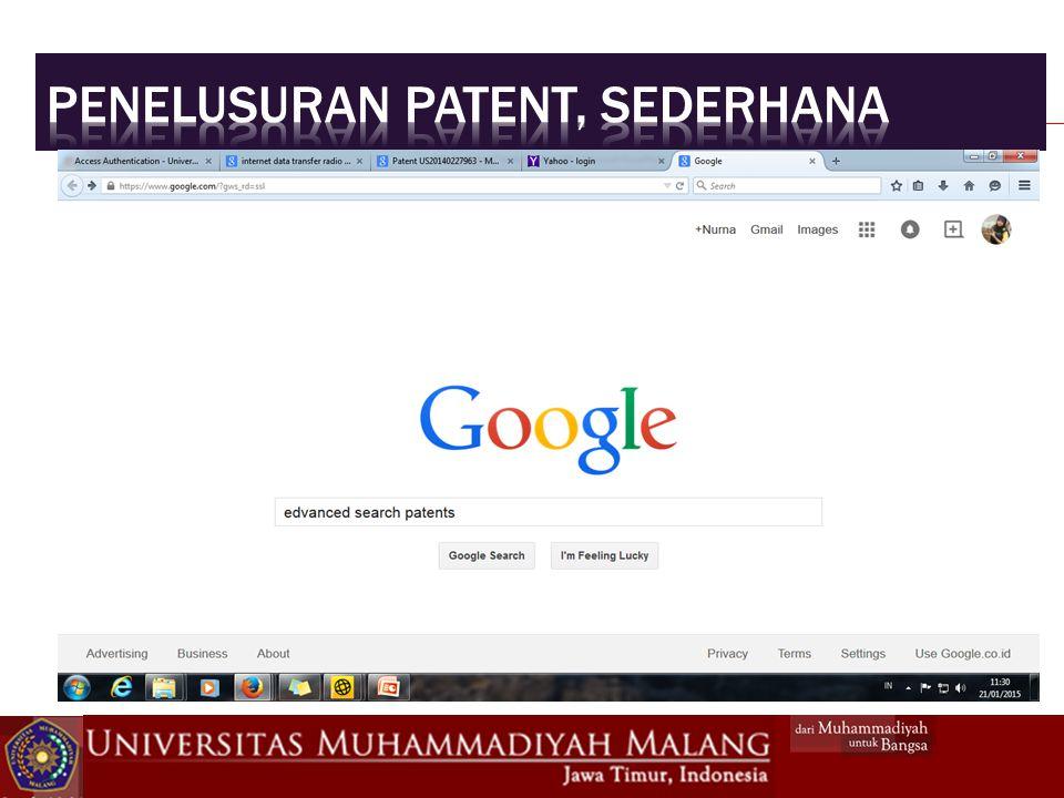 Penelusuran patent, Sederhana