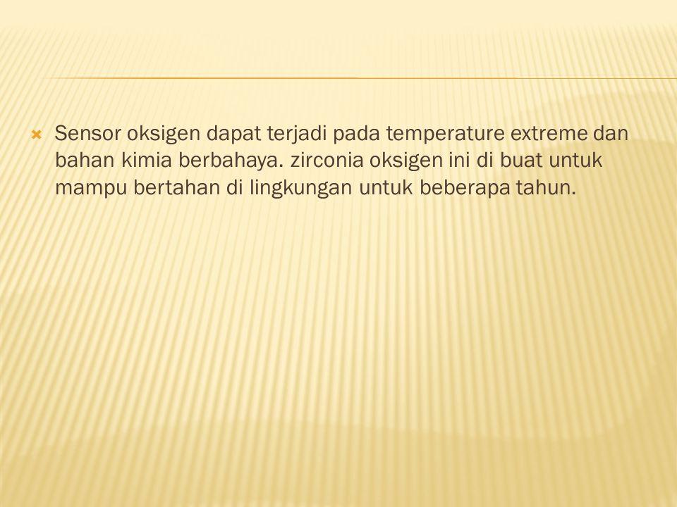 Sensor oksigen dapat terjadi pada temperature extreme dan bahan kimia berbahaya.