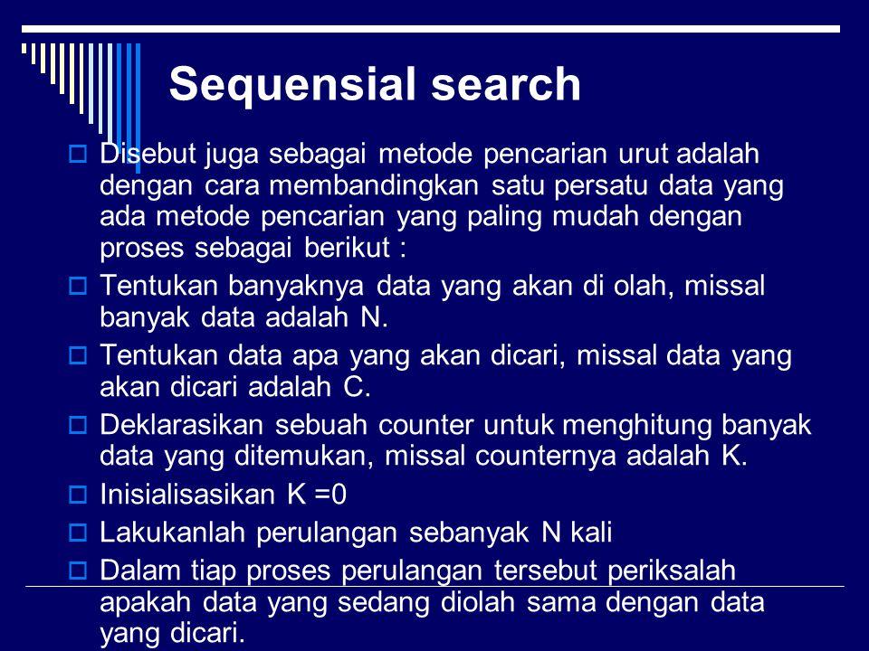 Sequensial search