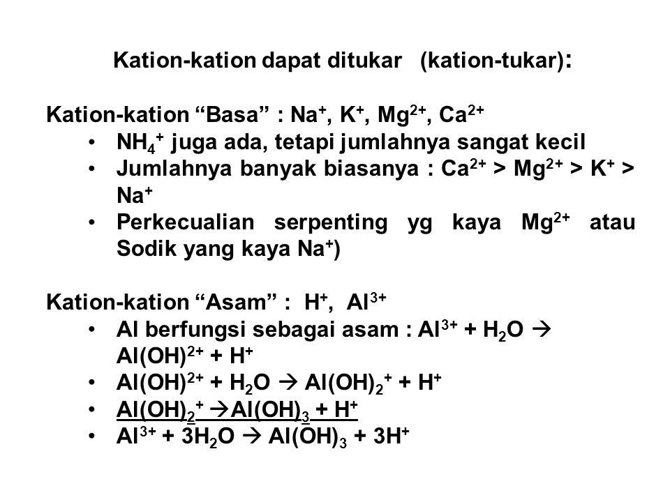 Kation-kation dapat ditukar (kation-tukar):