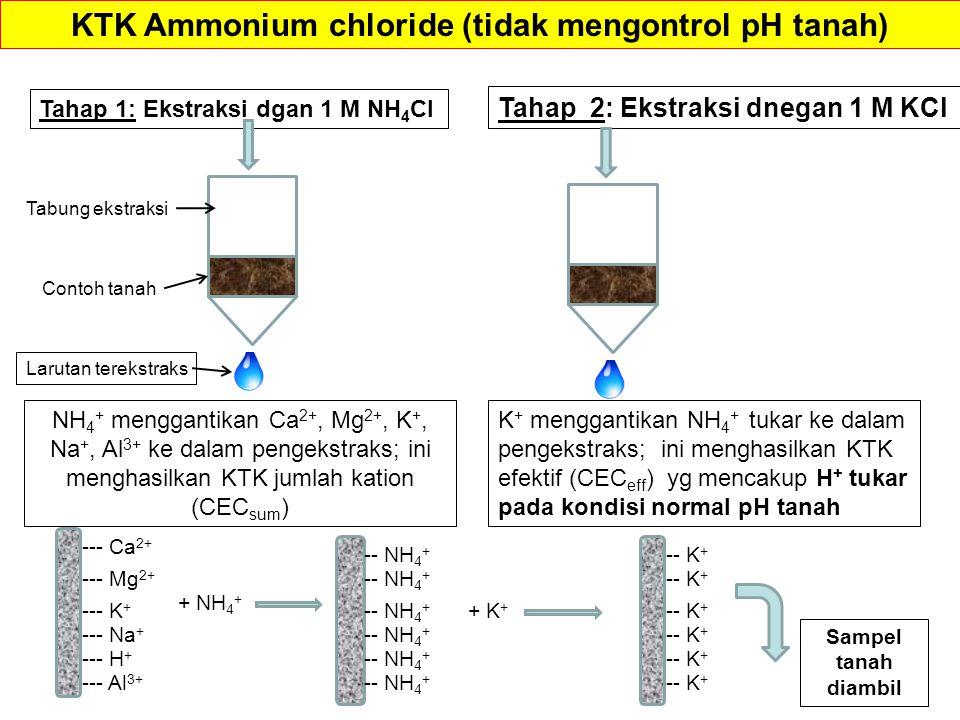 KTK Ammonium chloride (tidak mengontrol pH tanah)