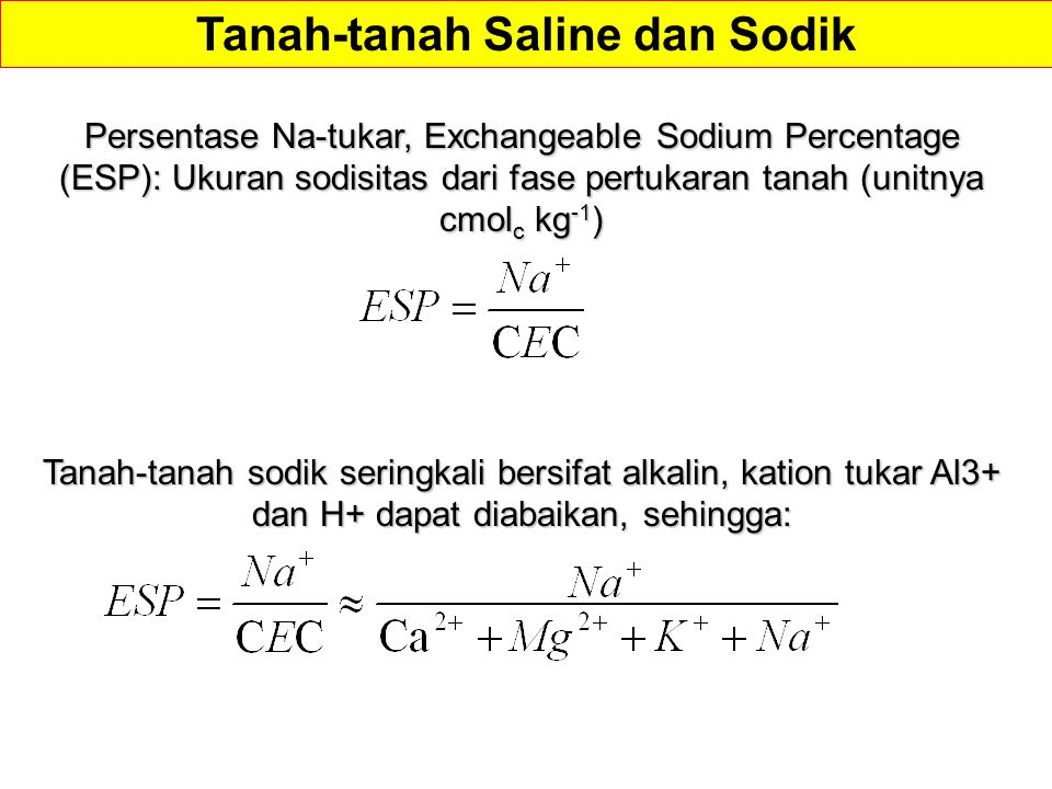 Tanah-tanah Saline dan Sodik