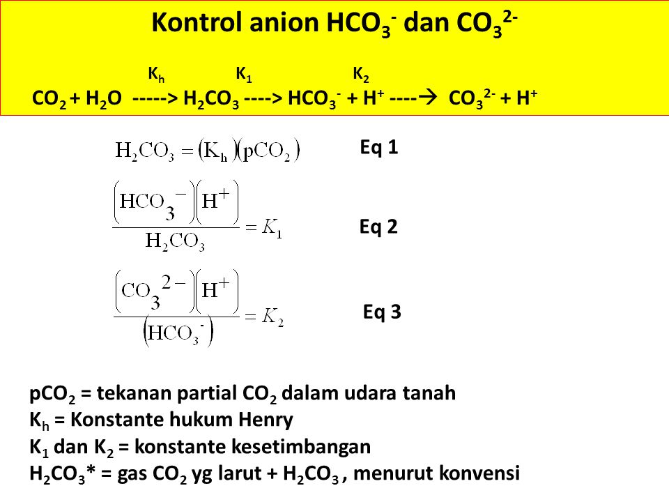 Kontrol anion HCO3- dan CO32-