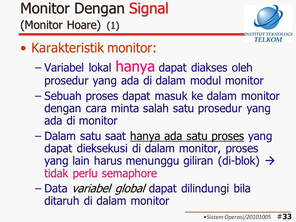 Monitor Dengan Signal (Monitor Hoare) (1)