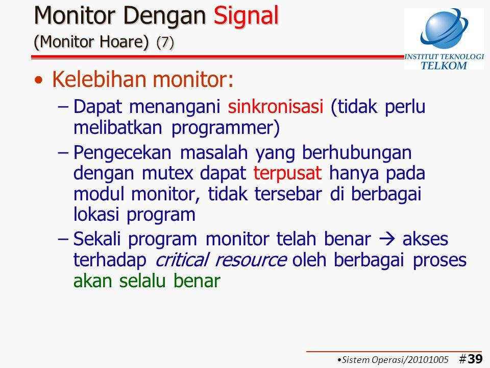 Monitor Dengan Signal (Monitor Hoare) (7)