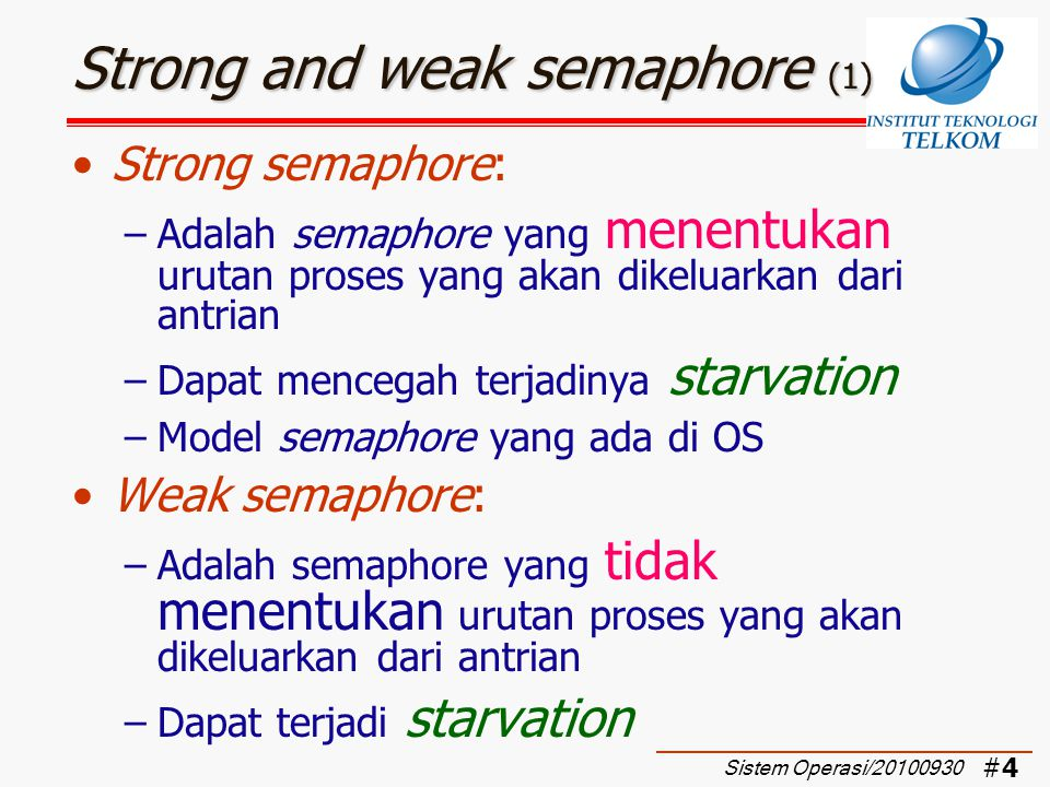 Strong and weak semaphore (1)
