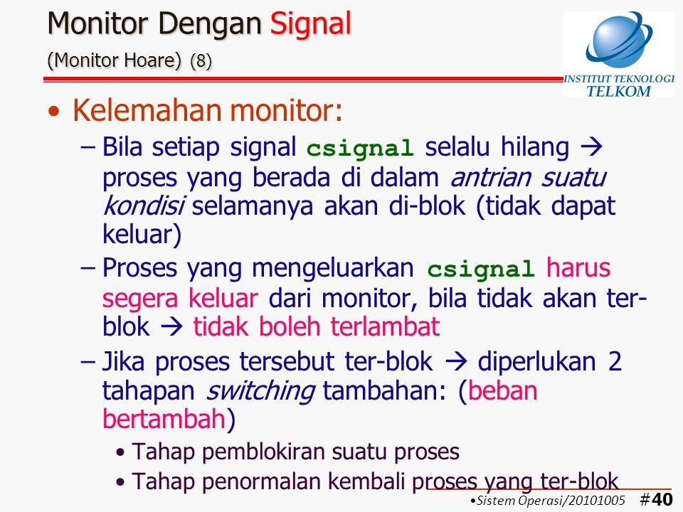 Monitor Dengan Signal (Monitor Hoare) (8)