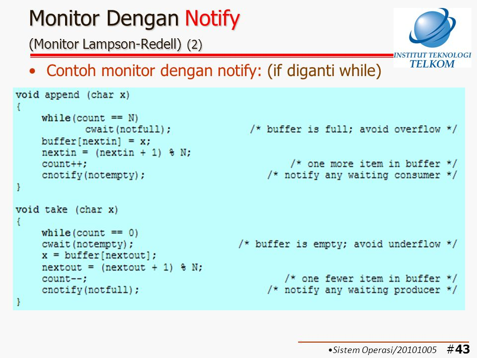 Monitor Dengan Notify (Monitor Lampson-Redell) (2)