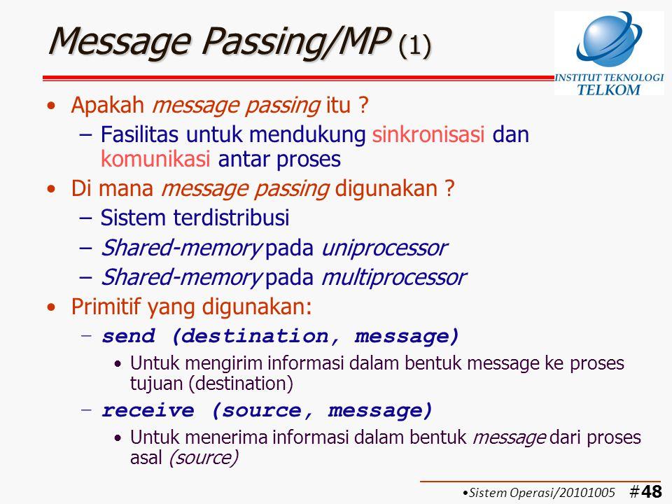Message Passing/MP (1) Apakah message passing itu