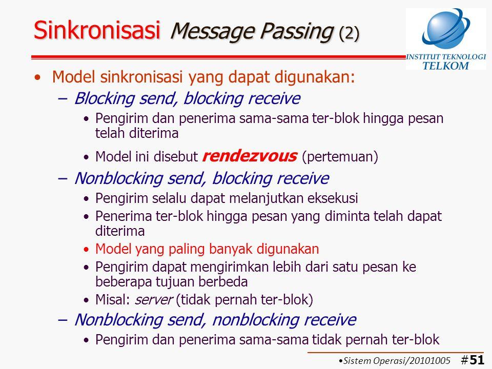 Sinkronisasi Message Passing (2)
