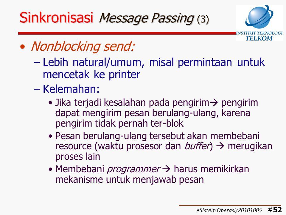 Sinkronisasi Message Passing (3)