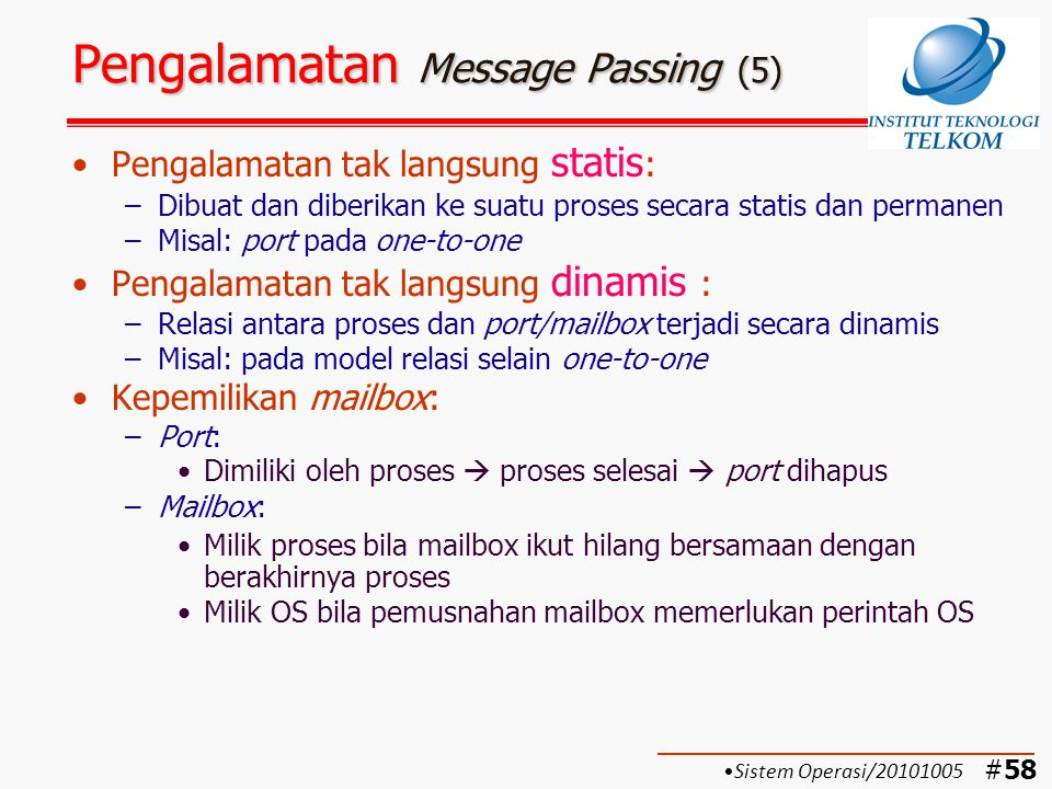 Pengalamatan Message Passing (5)
