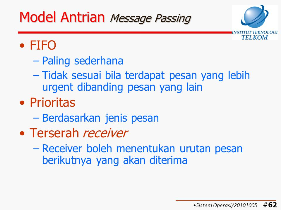 Model Antrian Message Passing