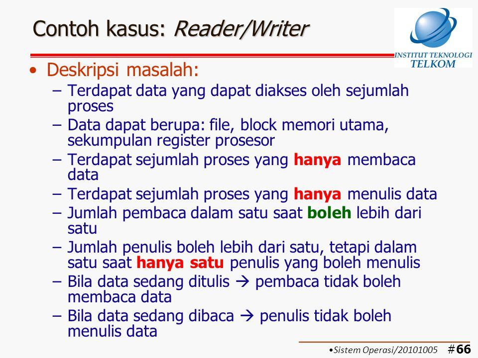 Contoh kasus: Reader/Writer