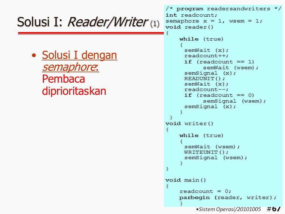 Solusi I: Reader/Writer (1)