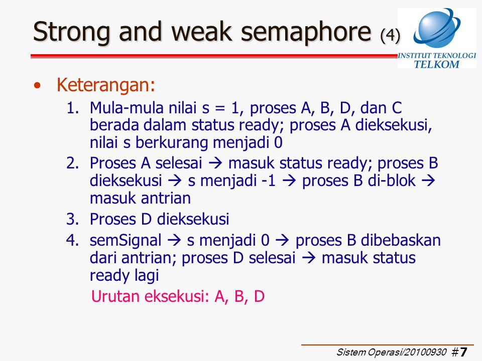 Strong and weak semaphore (4)