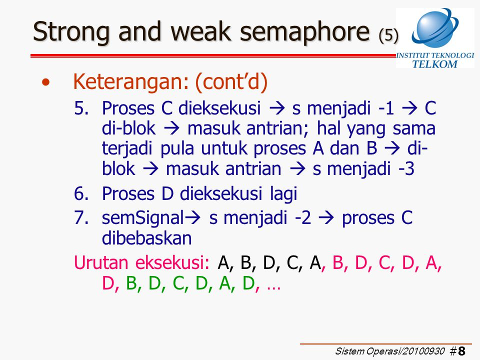 Strong and weak semaphore (5)