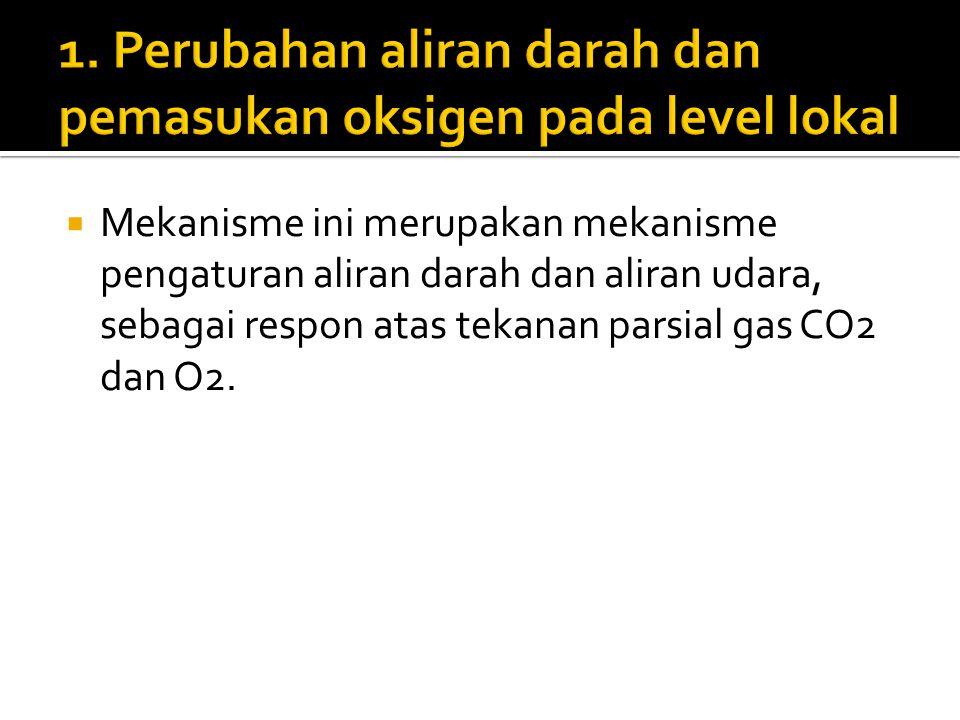 1. Perubahan aliran darah dan pemasukan oksigen pada level lokal