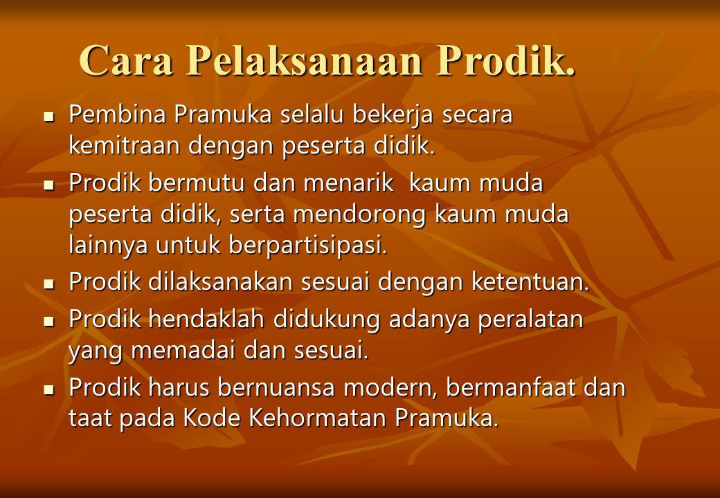 Cara Pelaksanaan Prodik.