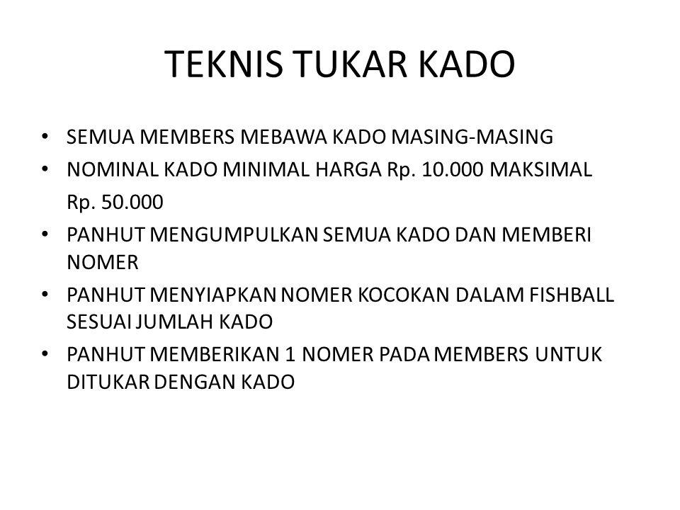 TEKNIS TUKAR KADO SEMUA MEMBERS MEBAWA KADO MASING-MASING