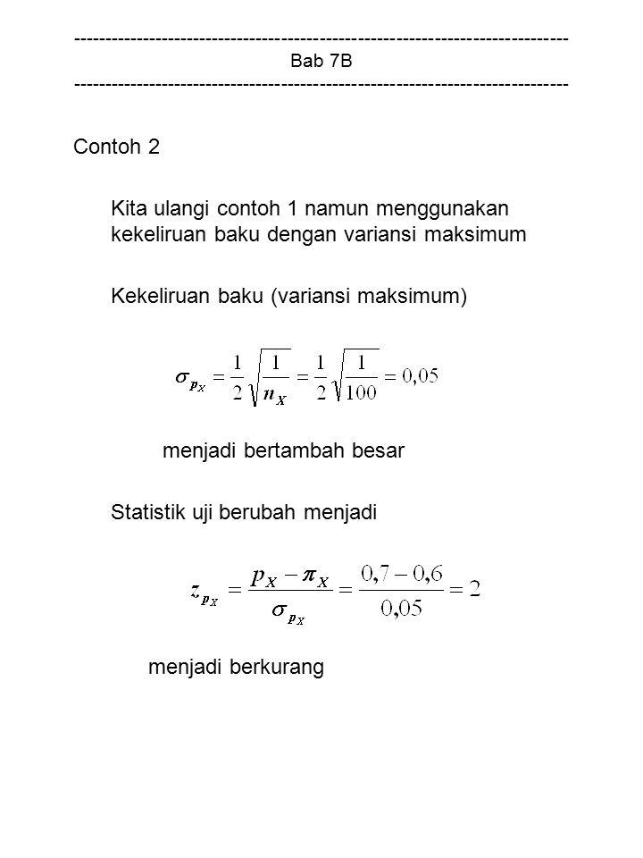 Kekeliruan baku (variansi maksimum)