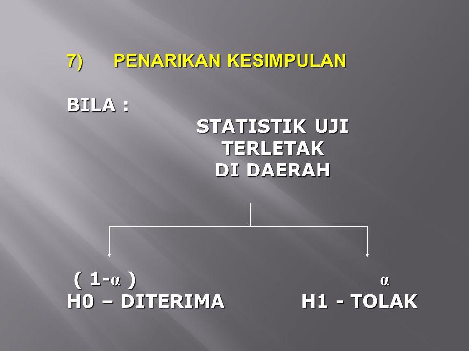 7) PENARIKAN KESIMPULAN