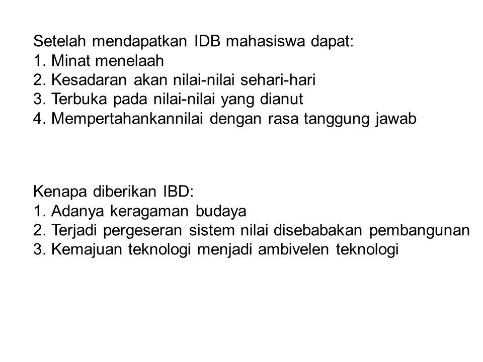 Setelah mendapatkan IDB mahasiswa dapat: