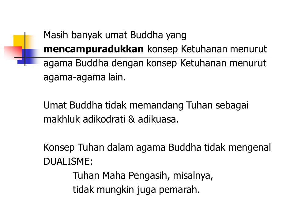 Masih banyak umat Buddha yang mencampuradukkan konsep Ketuhanan menurut agama Buddha dengan konsep Ketuhanan menurut agama-agama lain.