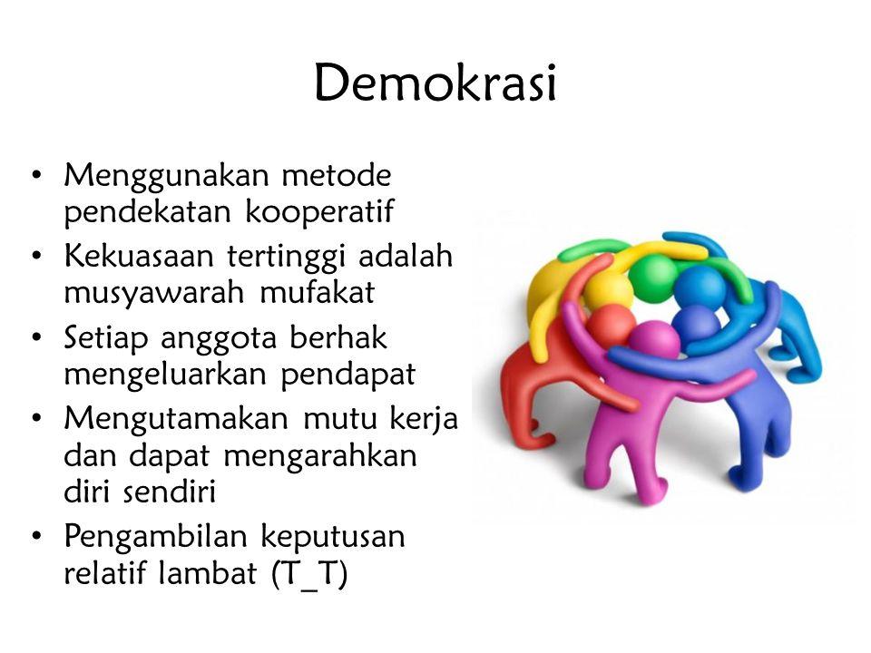Demokrasi Menggunakan metode pendekatan kooperatif