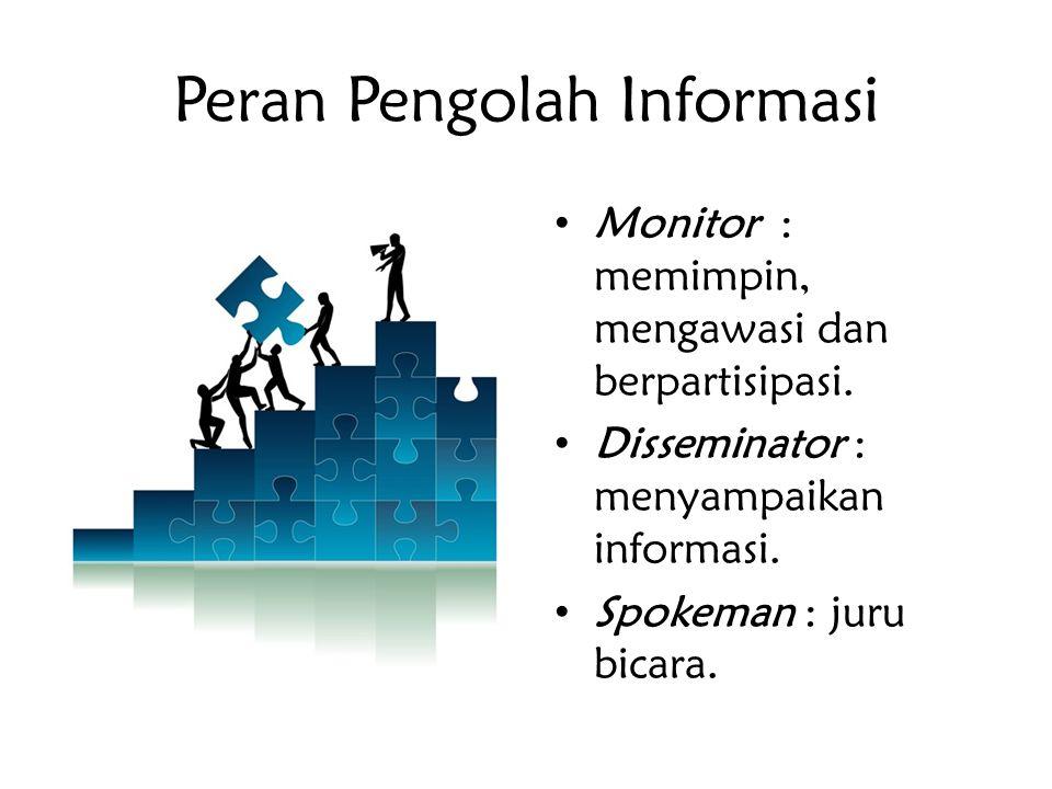 Peran Pengolah Informasi