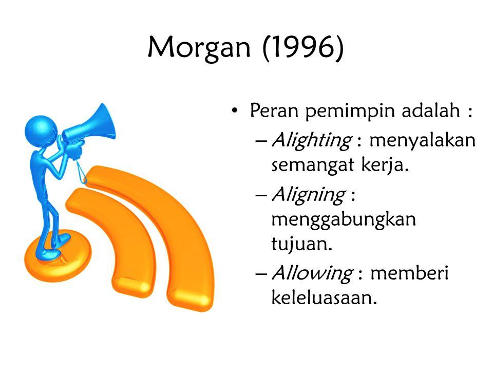 Morgan (1996) Peran pemimpin adalah :