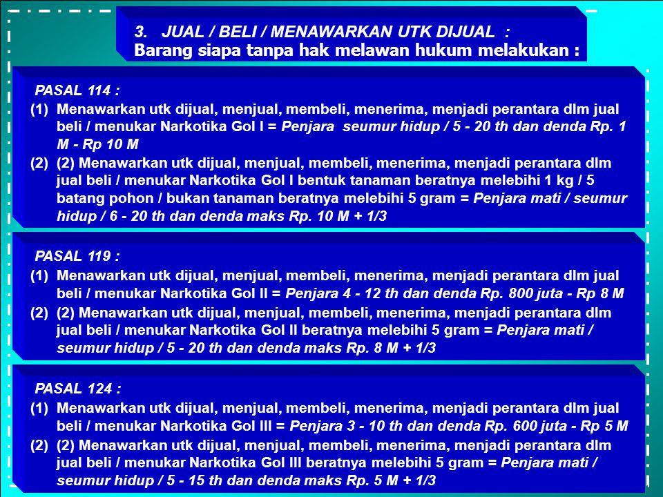 3. JUAL / BELI / MENAWARKAN UTK DIJUAL :