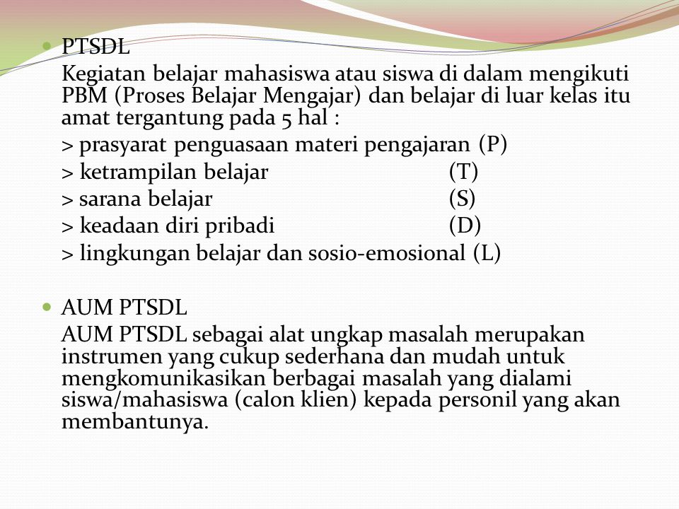 PTSDL