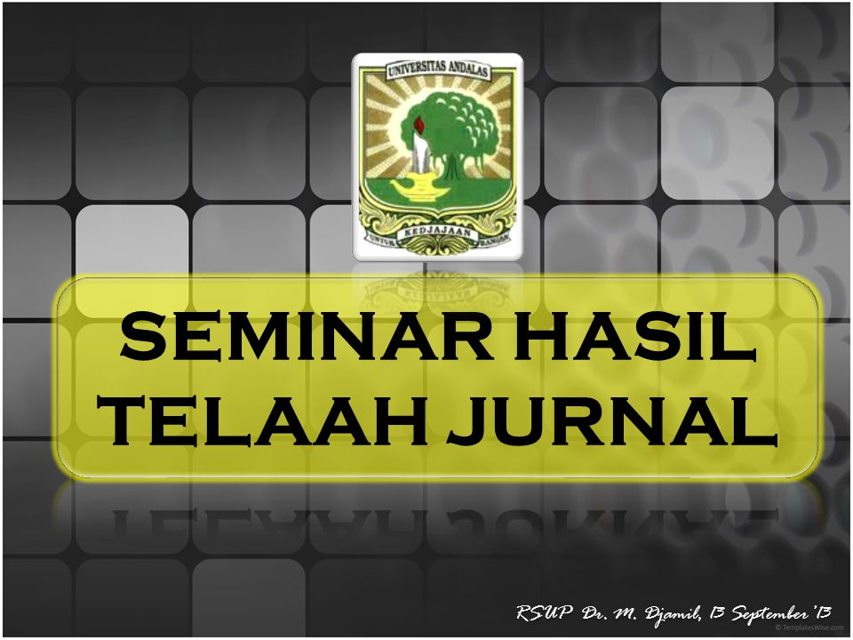 RSUP Dr. M. Djamil, 13 September'13