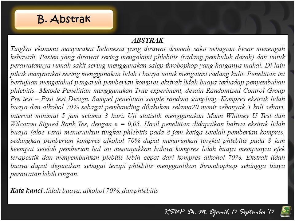 RSUP Dr. M. Djamil, 13 September'13