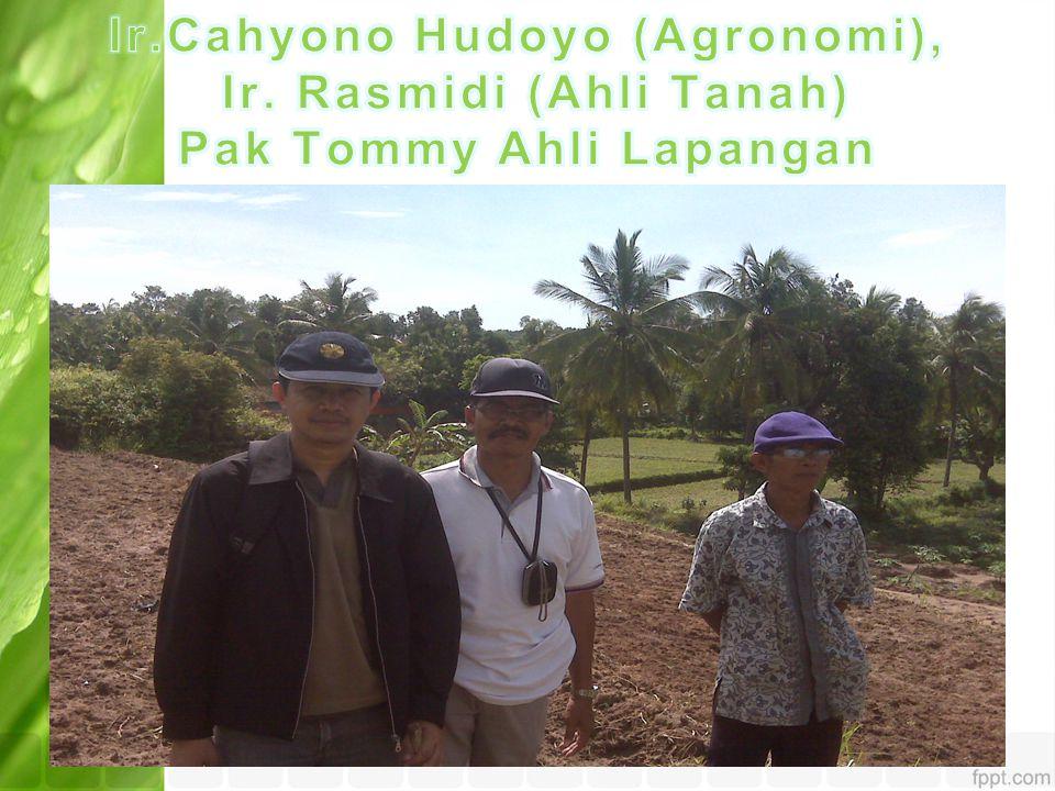Ir. Cahyono Hudoyo (Agronomi), Ir