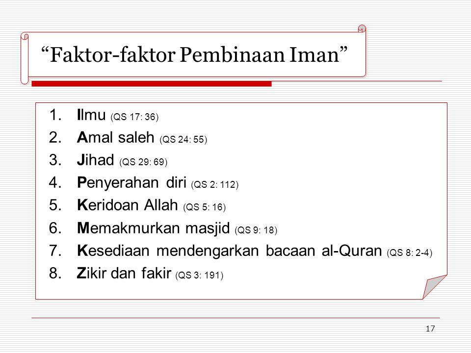 Faktor-faktor Pembinaan Iman