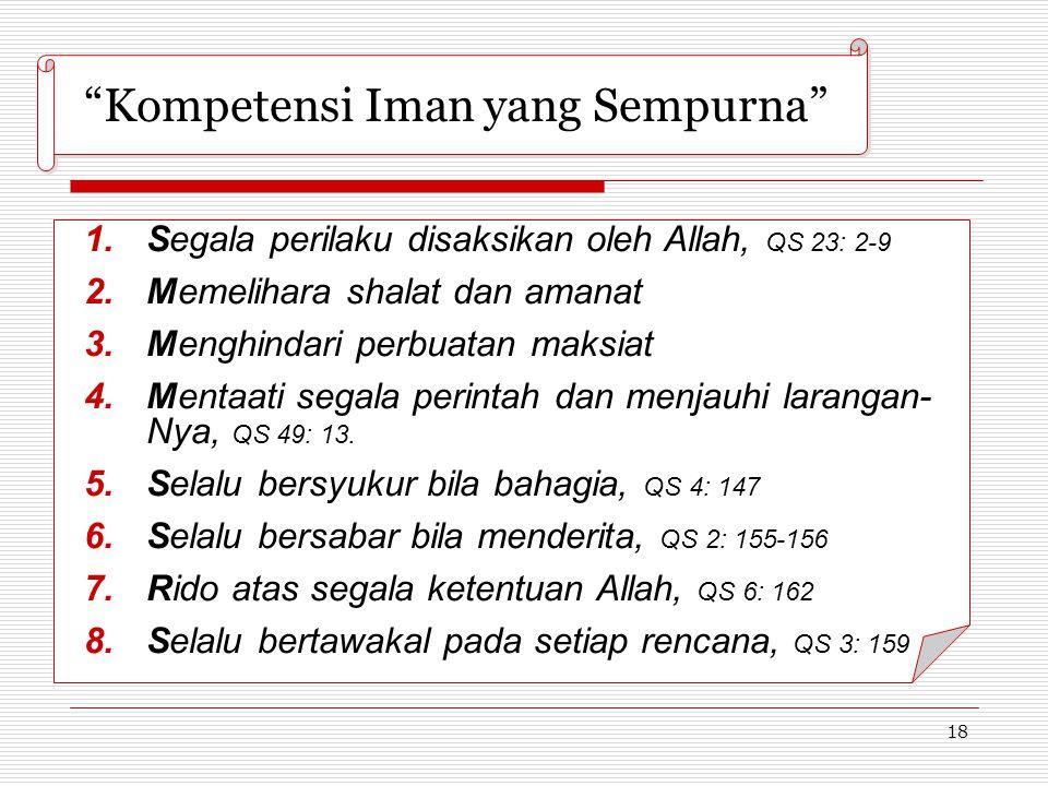 Kompetensi Iman yang Sempurna
