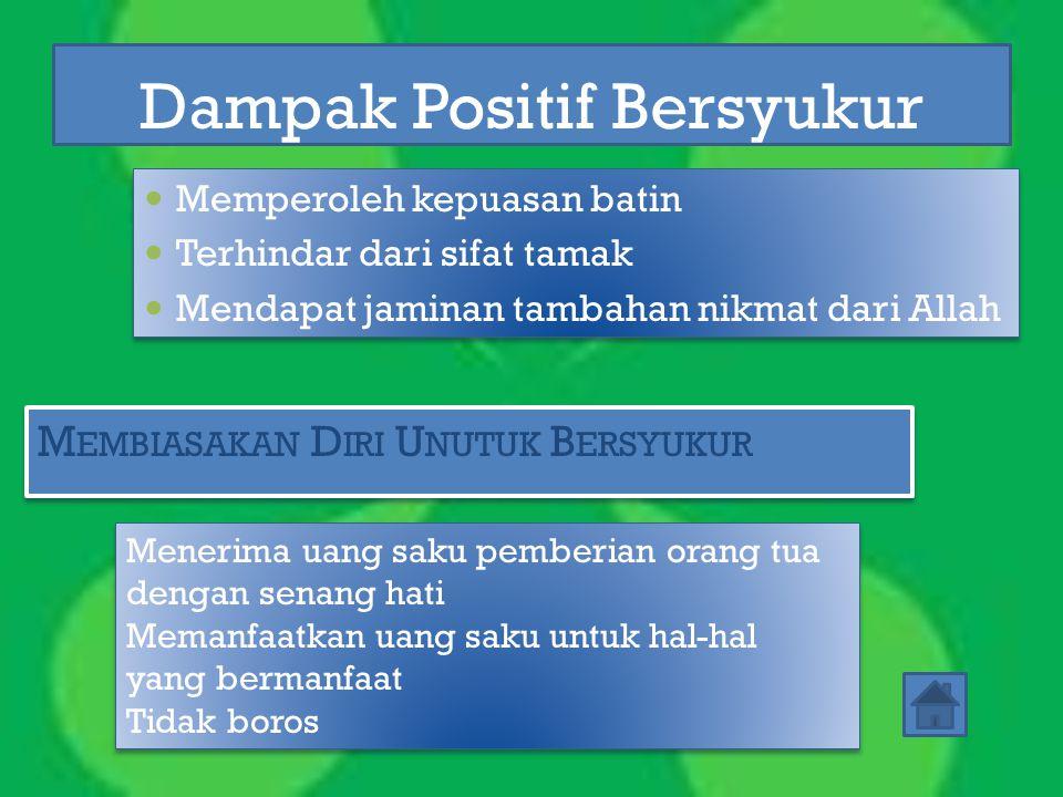 Dampak Positif Bersyukur