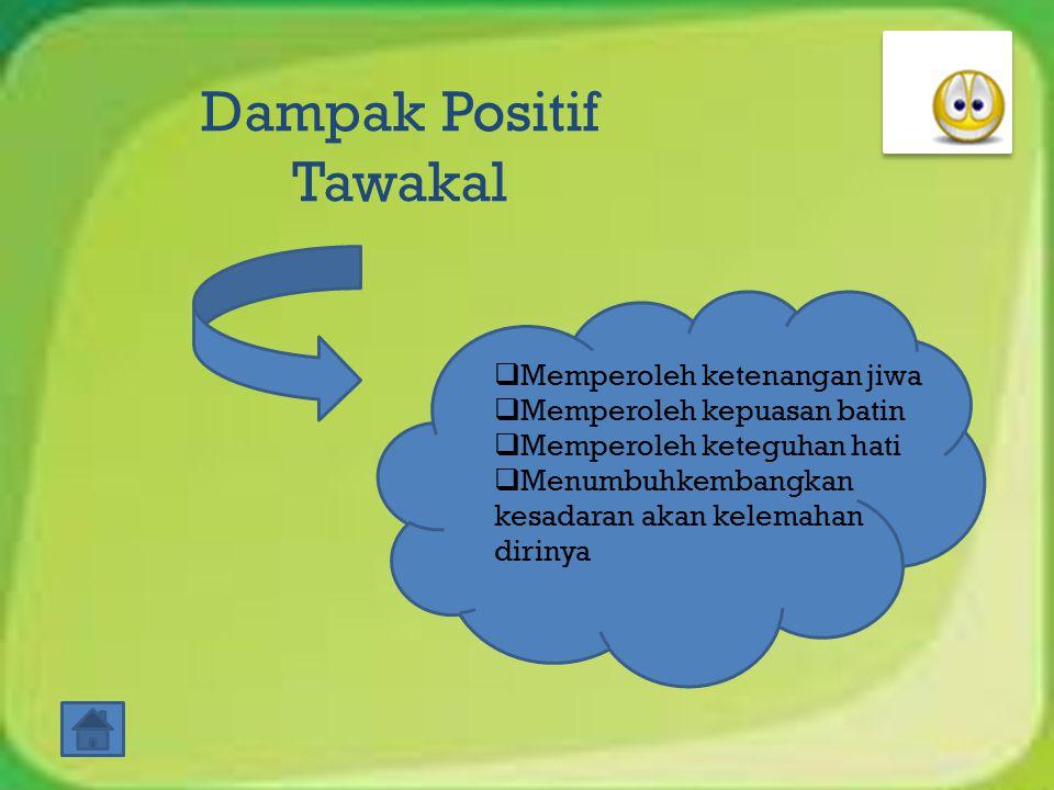 Dampak Positif Tawakal