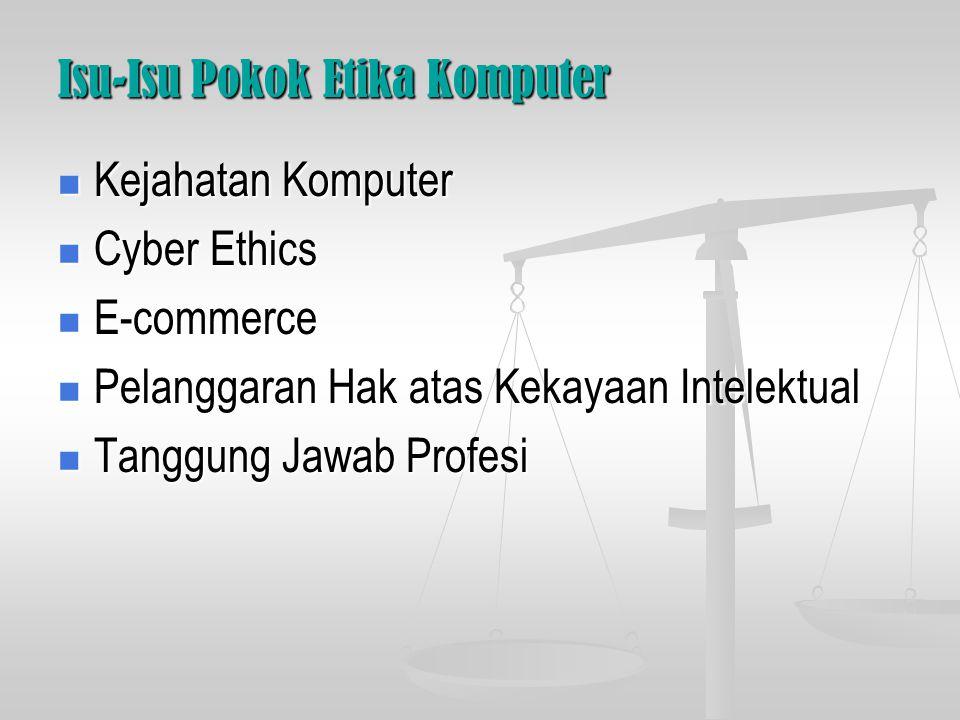 Isu-Isu Pokok Etika Komputer